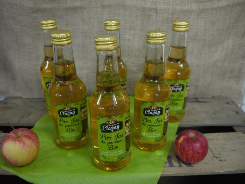 Jus de pommes Bio - La Popotte Restaurant Bressuire - Sur place, en livraison et à emporter - Manger bon, sain et local
