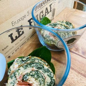 Roulé Saumon Epinards - La Popotte Restaurant Bressuire - Sur place, en livraison et à emporter - Manger bon, sain et local