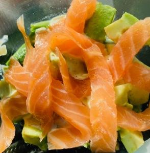 Avocat saumon - La Popotte Restaurant Bressuire - Sur place, en livraison et à emporter - Manger bon, sain et local